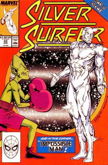 Silver Surfer (1987) 33 - Impossible Man - Stars - Sky - Galaxies - Light - Josef Rubinstein, Ron Lim