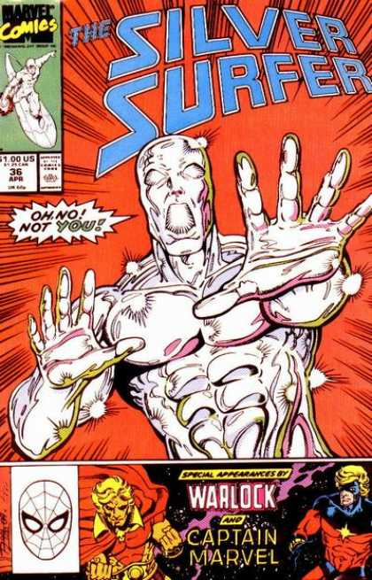 Silver Surfer (1987) 36 - Herald Of Galactus - Cosmic Powers - Warlock - Captain Marvel - Spider-man Logo - Ron Lim
