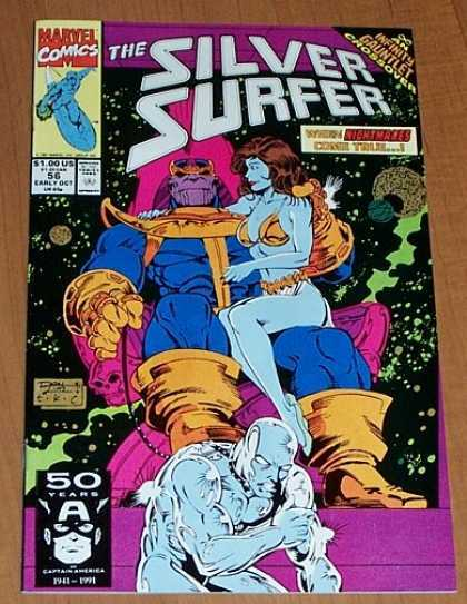 Silver Surfer (1987) 56 - Infinity Gauntlet - Marvel - 56 - Space - Captured - Ron Lim