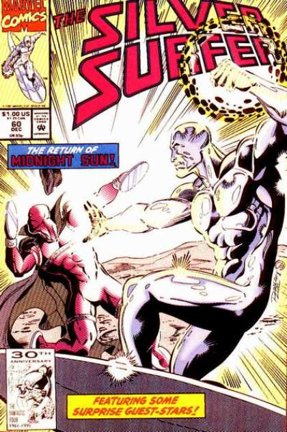 Silver Surfer (1987) 60 - The Return Of Midnight Sun - Marvel Comics - Super Fist - Red Man - Air Fight - Ron Lim