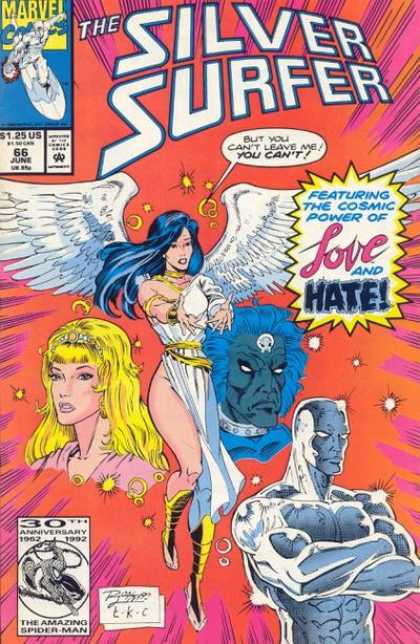 Silver Surfer (1987) 66 - Love And Hate - Beauty - 30th Anniversay Of The Amazing Spiderman - Angel Wings - Monster - Ron Lim