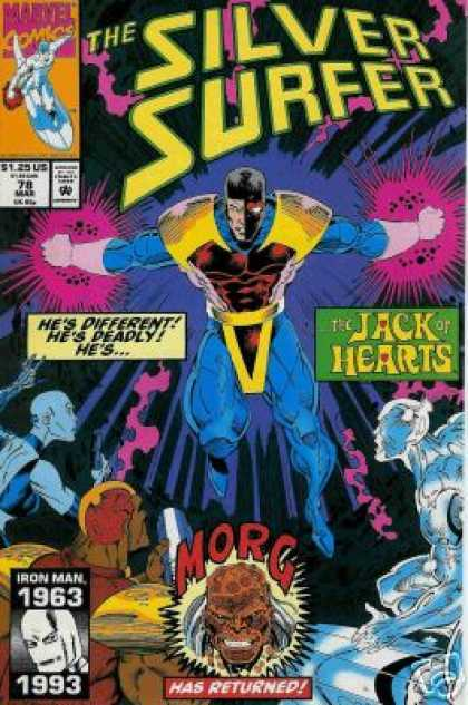 Silver Surfer (1987) 78 - Jack Of Hearts - Morg - Iron Man - Hes Different Hes Deadly - Flying - Ron Lim