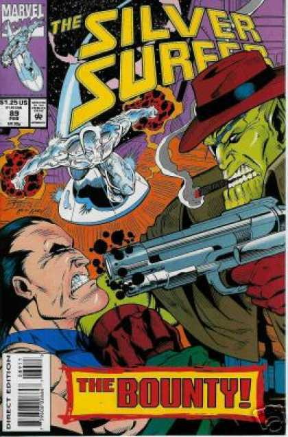 Silver Surfer (1987) 89 - The Bounty - Cigar - Silver Surfer - Surfboard - Gun - Ron Lim