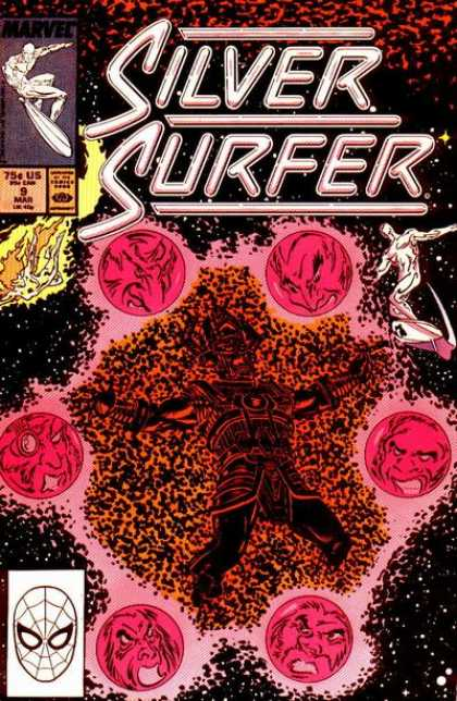 Silver Surfer (1987) 9 - Super Heroes - Figthing The Evil - Enemys - Silver Heroes