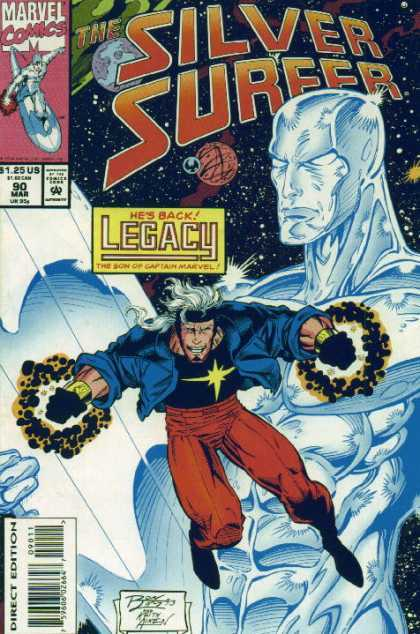 Silver Surfer (1987) 90 - Lagacy Son Of Captain Marvel - Issue Number 90 - March - 125 An Issue - Man With Star On Shirt - Ron Lim