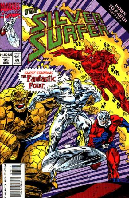 Silver Surfer (1987) 95 - Silver Surfer - Fantastic Four - August - 1995 - Marvel