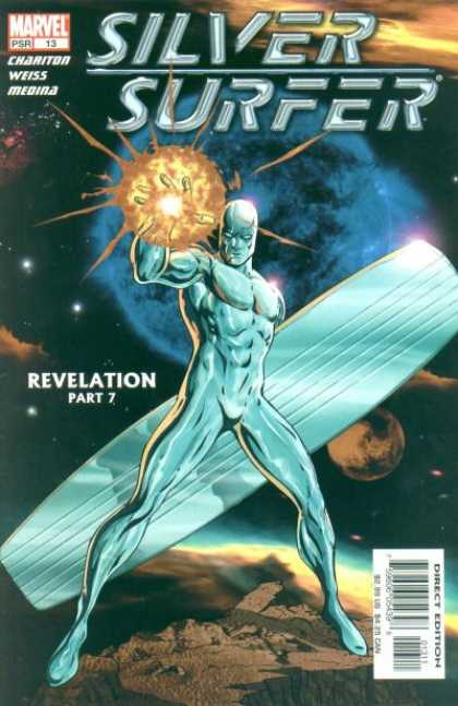 Silver Surfer (2003) 13 - The Silver Surf Board - Throwing Fireballs - In The Universe - In Another World - Silver Man