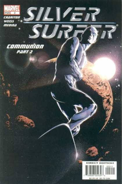 Silver Surfer (2003) 2 - Sliver Surfer - Moon - Chariton - Communion Part 2 - Weiss - Jae Lee, Jose Jimenez-Momediano