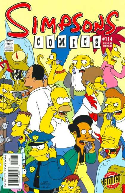 Simpsons Comics 114 - Marge Simpson - Alien - Mobile Phone - Homer Simpson - Talking - Jason Ho, Mike Rote