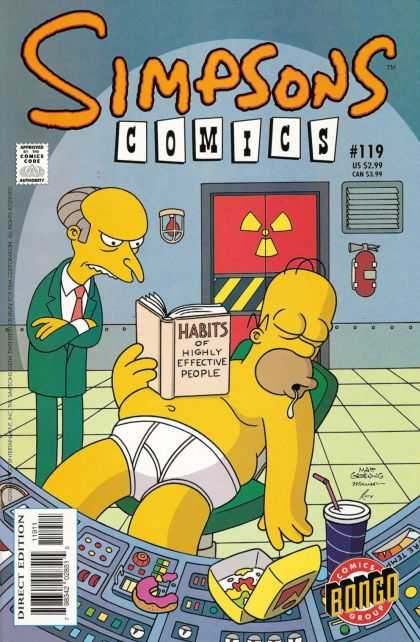 Simpsons Comics 119 - 119 - Habits Of Highly Effective People - Homer - Radioactive - Direct Edition - Bill Morrison, Mike Rote