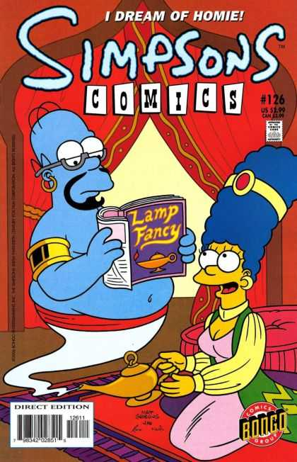 Simpsons Comics 126 - I Dream Of Homie - Lamp Fancy - Book - Marge - Direct Edition - Jason Ho, Mike Rote