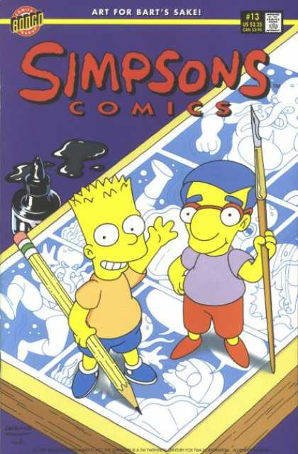 Simpsons Comics 13 - Barts Day Off - When Bart Ran Away - When Bart Discovered Art - When Bart Subbed Farts For Art - Bart And Friends