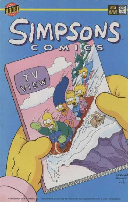Simpsons Comics 15 - Bongo - Approved By The Comics Code Authoritytv View - 225 Us - Sky - 15 - Bill Morrison, Matt Groening