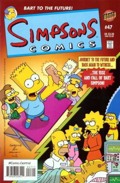 Simpsons Comics 47 - Homer - Marge - Lisa - Bart To The Future - The Rise And Fall Of Bart Simpson