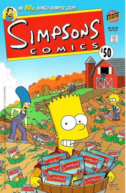 Simpsons Comics 50 - Barn - Garden - Plants - Farm - Watering - Matt Groening