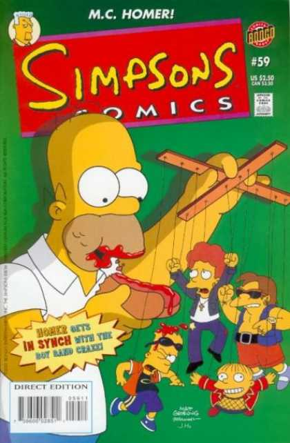 Simpsons Comics 59 - Homer The Puppetmaster - The Puppetmaster - Pulling My Strings - Homer Get A Job - Homer Entertains