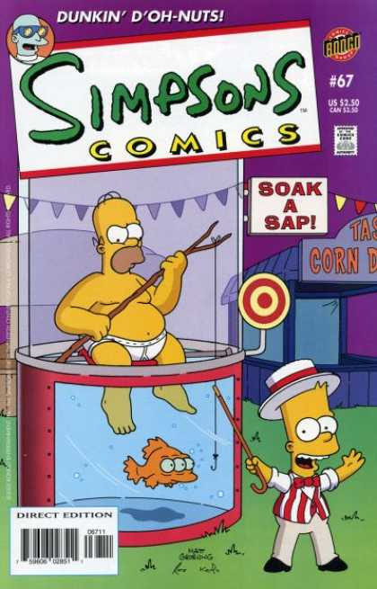 Simpsons Comics 67 - Simpsons - Dunk Tank - Bart - Circus Barker - Soak A Sap