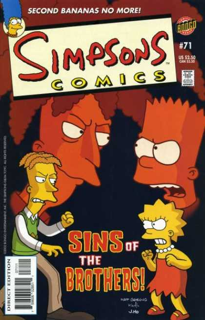 Simpsons Comics 71 - Marge - Sideshow Bob - Bart - Bongo - Second Bananas
