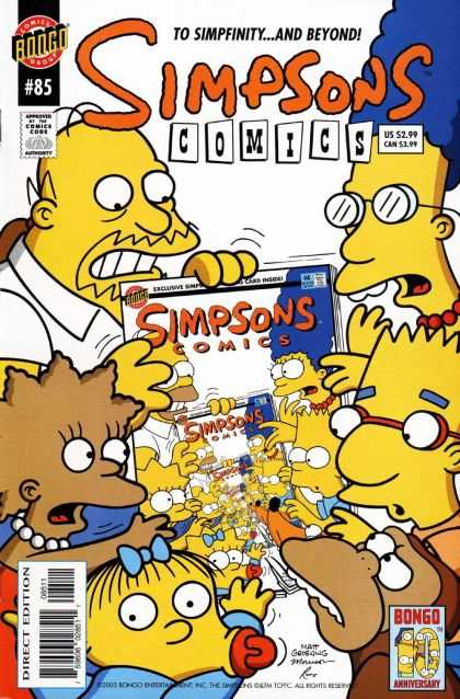 Simpsons Comics 85 - Marg - Homer - Bart - Lisa - Maggie