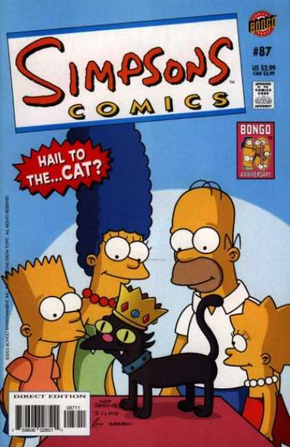 Simpsons Comics 87 - Bart - Homer - Crown - Cat - Table