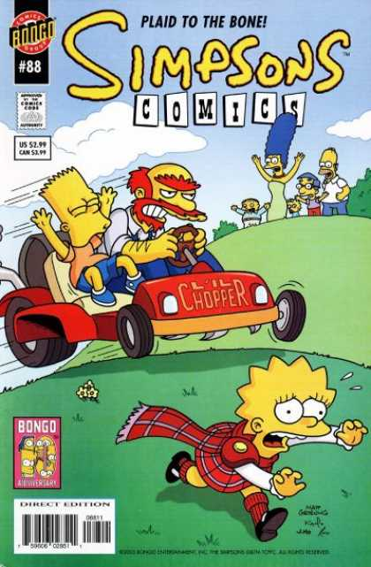 Simpsons Comics 88 - Bart - Homer - Lisa - Lil Chopper - Marge
