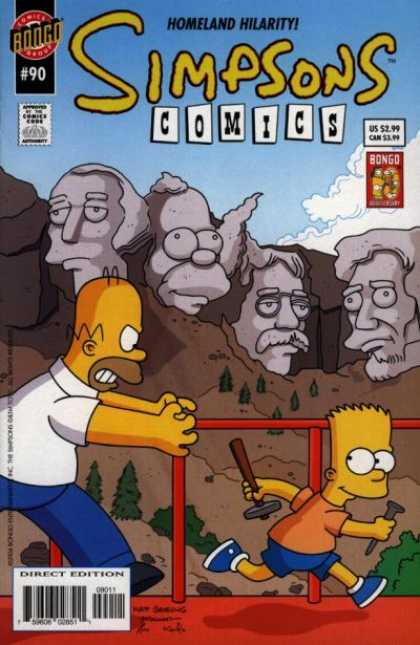 Simpsons Comics 90 - Homeland - Bongo - Bart - Homer - Hilarity