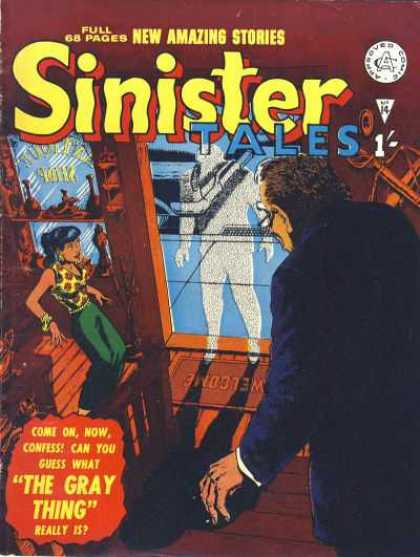 Sinister Tales 14 - The Gray Thing - Welcome Mat - Glass Door - Gold Bracelet - Polka Dot Blouse