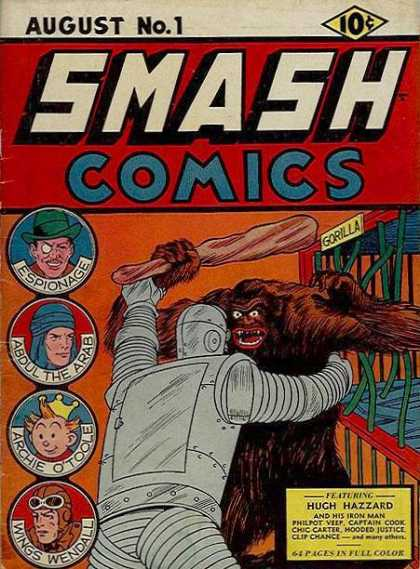 Smash Comics 1 - Gorilla - Espionage - Abdul The Arab - Archie Otoole - Wings Wendall
