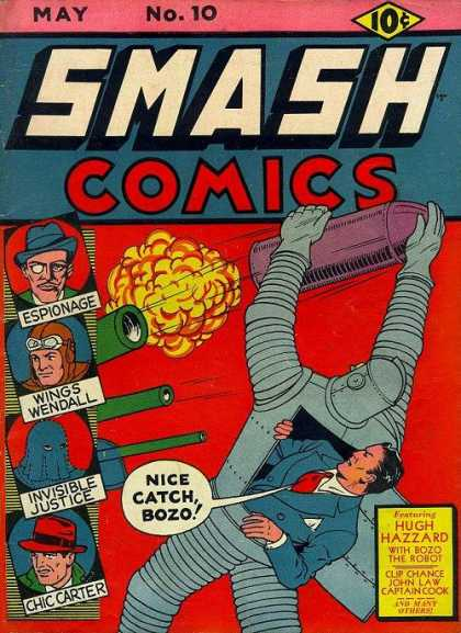 Smash Comics 10 - May - Espionage - Wings Wendall - Speech Bubble - Invisible Justice
