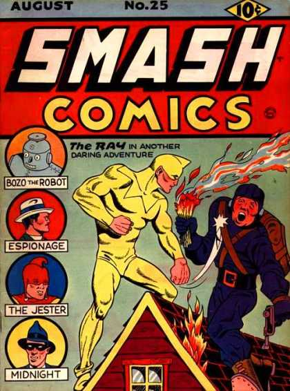 Smash Comics 25 - Bozo The Robot - Espionage - The Jester - Midnight - The Ray