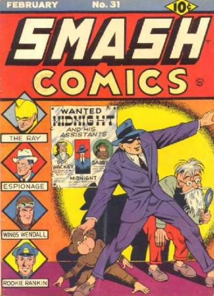Smash Comics 31 - Ray - Espionage - Wings Wendall - Rookie Rankin - Midnight