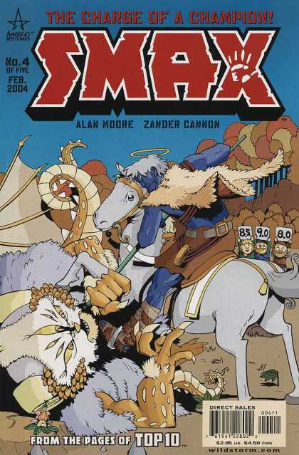Smax 4 - The Charge Of A Champion - Alan Moore - Zander Cannon - From The Pages Of Top 10 - Grey Horse - Zander Cannon