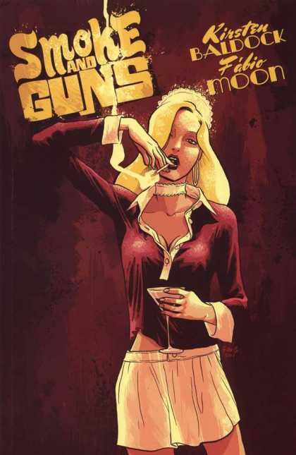 Smoke and Guns 1 - Cigarette - Burgundy Polo Shirt - Smoke And Guns - Blonde Lady - Choker Necklace