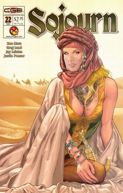 Sojourn 22 - Ron Marz - Desert - Camels - Greg Land - Cleavage