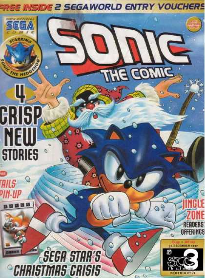 Sonic the Comic 119 - Bubbles - Water - Clouds - Super Hero - Sky