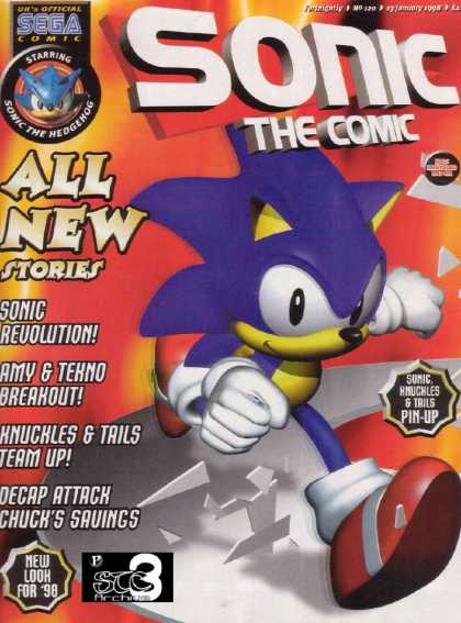 Sonic the Comic 120 - Sonic Revolution - Amy U0026 Tekno Breakout - Knuckles U0026 Tails Team Up - Deep Attach Chucks Savings - New Look