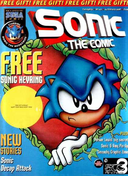 Sonic the Comic 123 - Free Keyring - Free Gift - New Stories - Porker Lewis - Amy