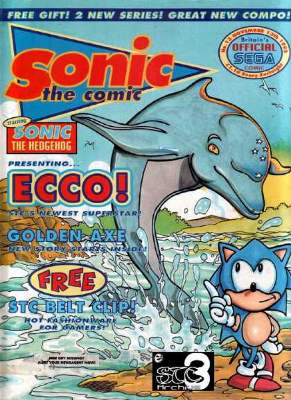 Sonic the Comic 13 - Sonic The Comic - Sonic The Hedgehog - Presenting Ecco - Golden Axe - Free Stc Belt Clip