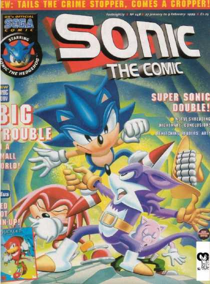 Sonic the Comic 148 - Hedgehog - Double Trouble - Fast As Lightening - Save The World - Tails
