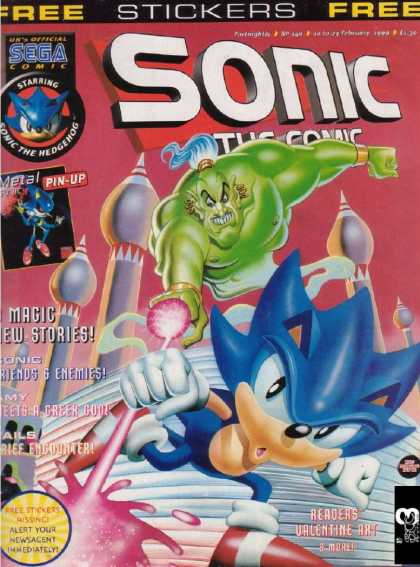 Sonic the Comic 149 - Tom - Balloon - Fort - Red Shoe - Fat Toy