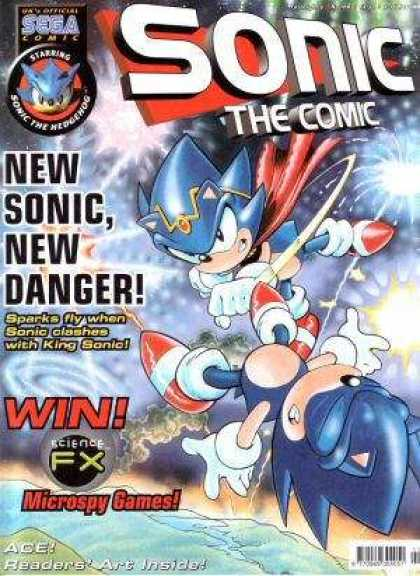 Sonic the Comic 168 - New Games - King Sonic - Microspy Games - Science Fx - Fireworks