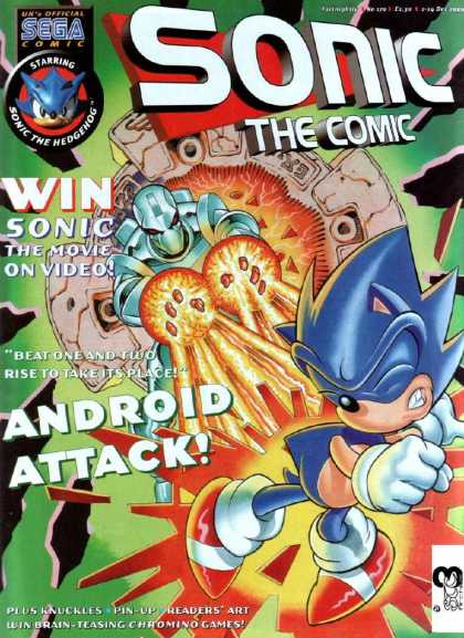 Sonic the Comic 170 - Sega Comic - The Movie On Video - Android Attack - Beat One And Two Rise In Its Place - Hedgehog