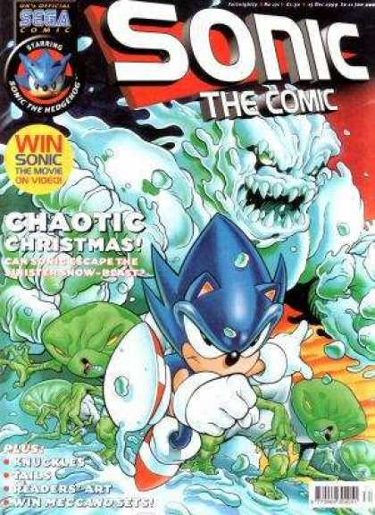 Sonic the Comic 171 - Sega - Chaotic Christmas - Snow Creature - Knuckles - Tails