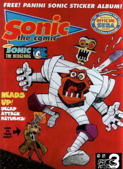 Sonic the Comic 34 - Gunfire - Wounded - Mummy - Sega - Mystery