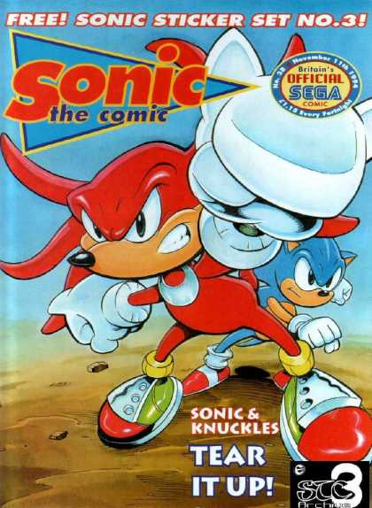 Sonic the Comic 38 - Partners - Gift - Game Console - Play - Red