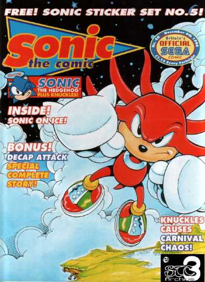 Sonic the Comic 40 - Soni On Ice - Decap Atatck - Knuckles - Knuckles Causes Carnival Chaos