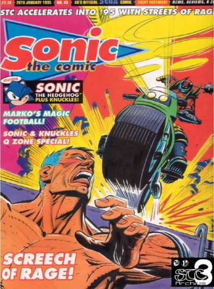 Sonic the Comic 43 - Sonic U0026 Knuckles Q Zone Special - Motorcycle - Flail - Screech Of Rage - Markos Magic Football
