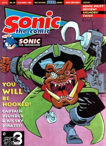 Sonic the Comic 49 - Pirate - Hook - Chains - Captain Blunder - Caster