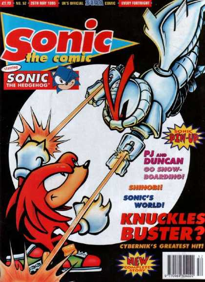 Sonic the Comic 52 - Pin-up - World - Knuckles - Hit - Fighting