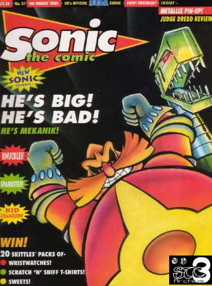 Sonic the Comic 57 - Comic - 57 - August 1955 - Robot - Metallix